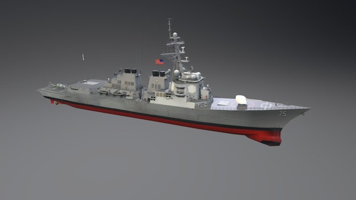 Arleigh Burke-class Guided Missile Destroyer 3D Model
