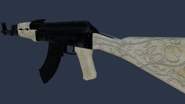 AK-47 Ivory 3D Model