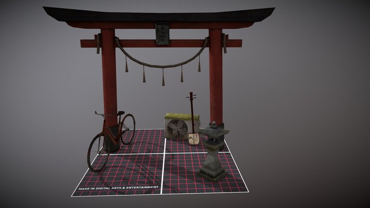kyoto 5 props Aymane Allouch 3D Model