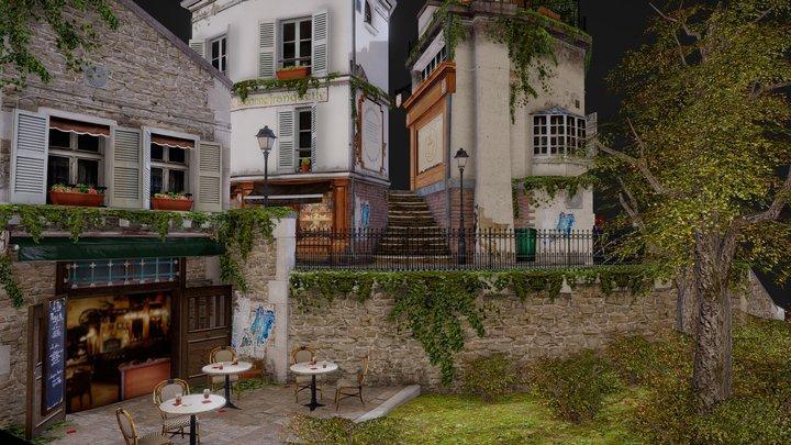 Streets of Montmartre 3D Model