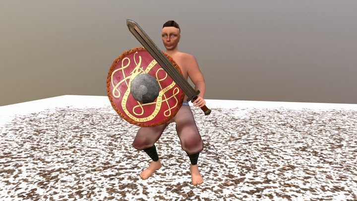 Viking Character Fight Idle 3D Model