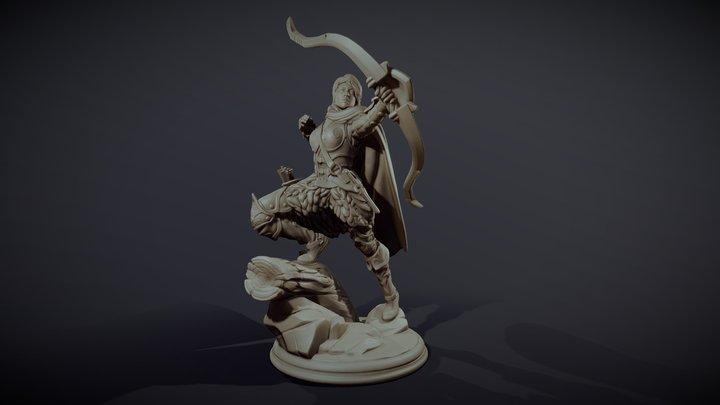 Huntress - Miniature figure 3D Model