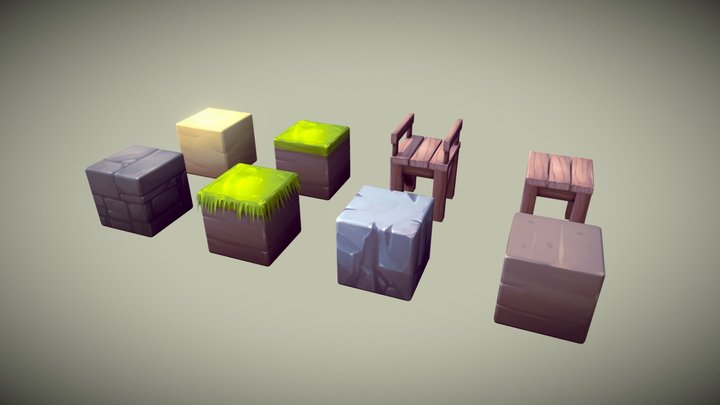 Cube World 3D Model