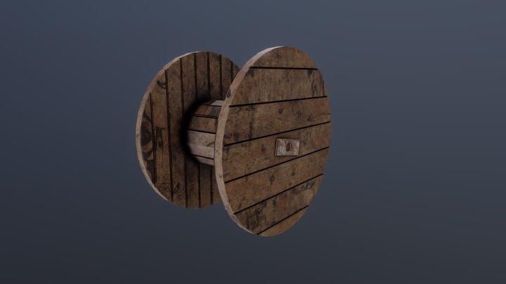 Wooden Coil 3D Model