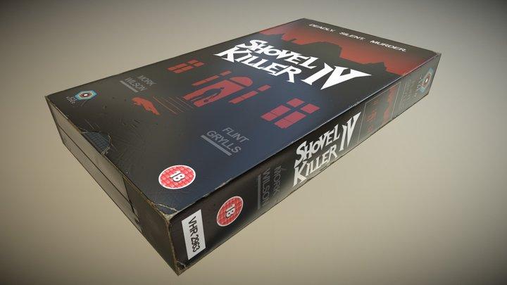 VHS Cassette Tape - Boxed - Retro - Horror 3D Model