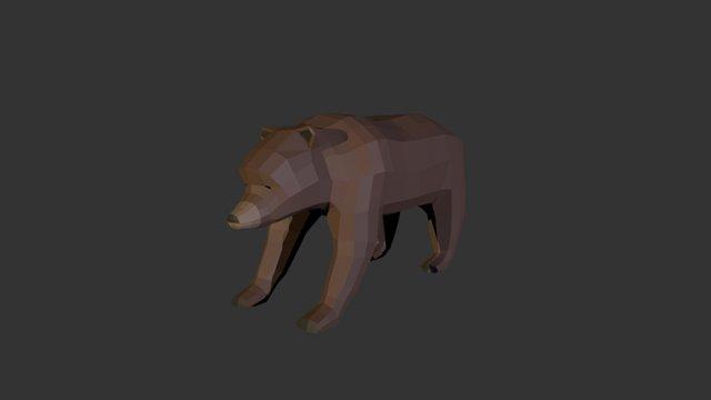 Low Poly Bear 3D Model