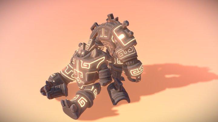 Aztec Golem 3D Model