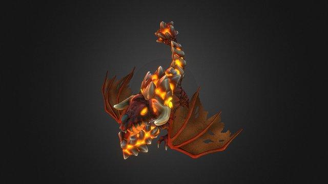 FORCED SHOWDOWN - Small Fire Dragon 3D Model