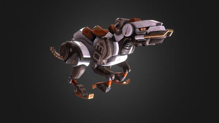 Robot Jaguar Animation 3D Model
