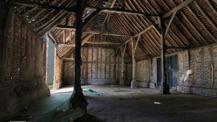 Barn Interior and Exterior 3D Model