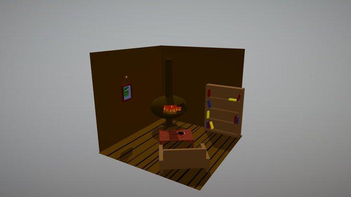Cartoon Cabin 3D Model