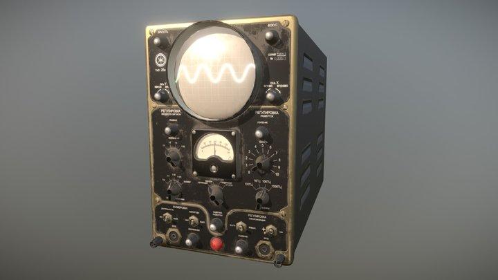 Vintage Oscilloscope 25i 3D Model
