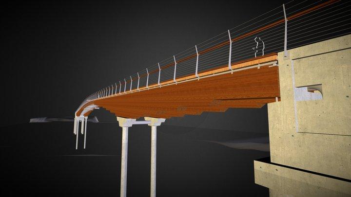 Bow River Pedestrian Bridge 3D Model