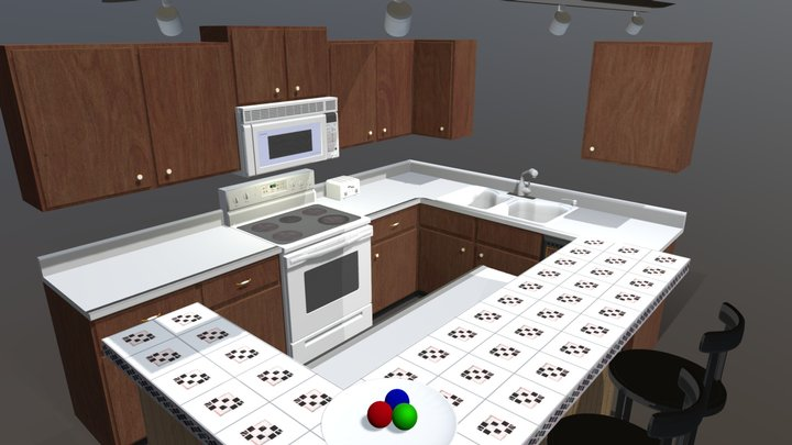 My Kitchen Modeled 3D Model