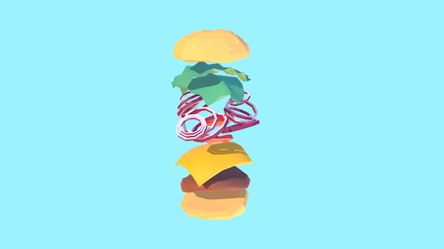 Burger Dissection 3D Model