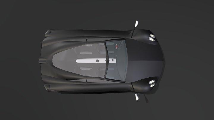 V4 Pagani Huayra Revisited 3D Model