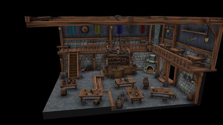 Tavern. Day 5. FINAL[XYZ School DAILY CHALLENGE] 3D Model