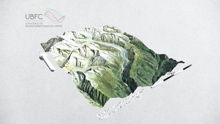 Aletch glacier (CH) 3D Model