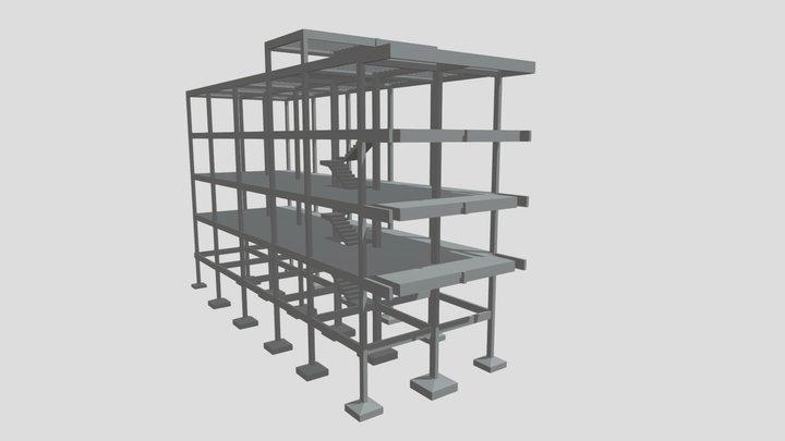 Projeto Estrutural - Edificação NC 3D Model