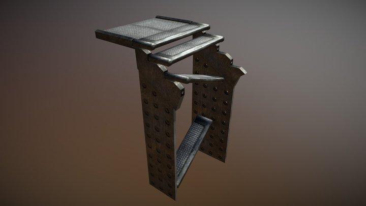 Broken stairs 3D Model