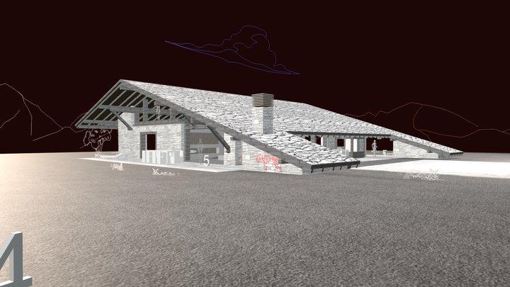 Casa Fontenebro. Texturas de bosquejo 3D Model