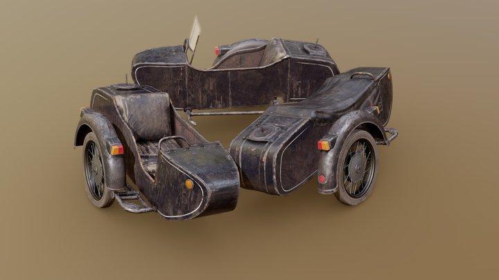 Dnepr Motorcycle Sidecar 3D Model