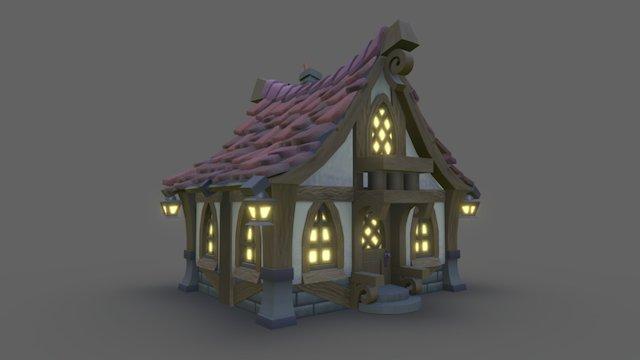 Spooky House 3D Model