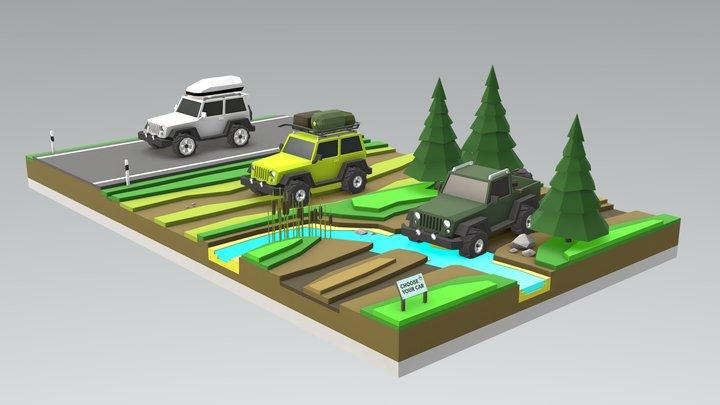 Off-Road Cars 3D Model