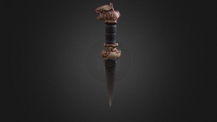 Mayan Dagger 3D Model