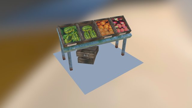 Prop Fruit Stand 3D Model