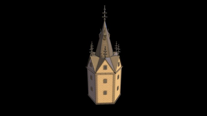 Top of the tower (highpoly) 3D Model