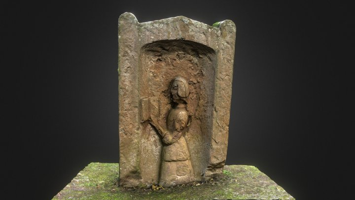 Headstone from Dryburgh Abbey burial ground 3D Model