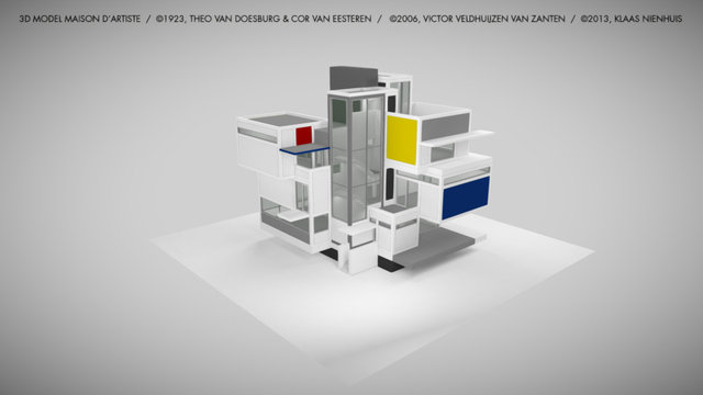 Maison d'Artiste 3D Model