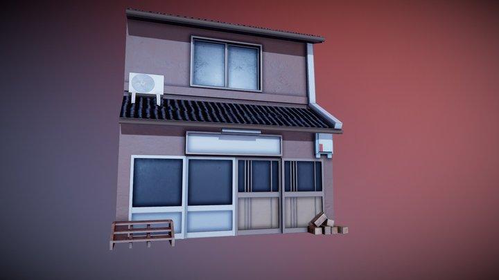 Japanese Residential Home 02 3D Model