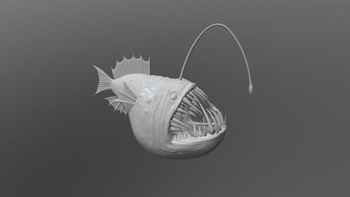 Angler Fish Sculpt 3D Model