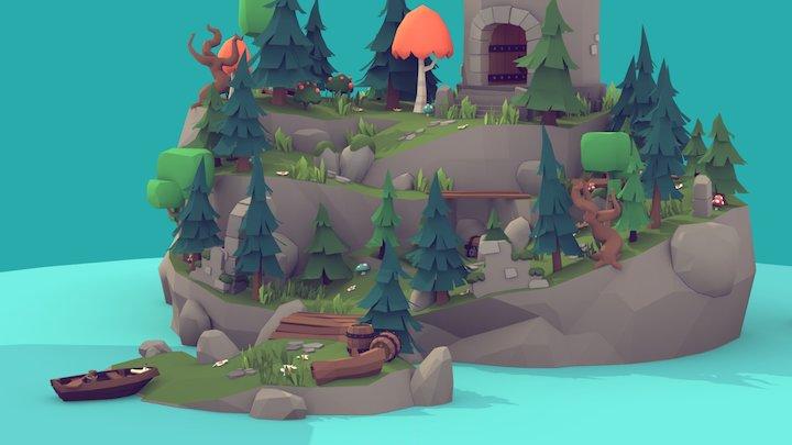Medieval Fantasy - Treasure Island 3D Model