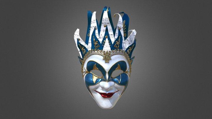 Venetian Carnival Mask - The Joker 3D Model