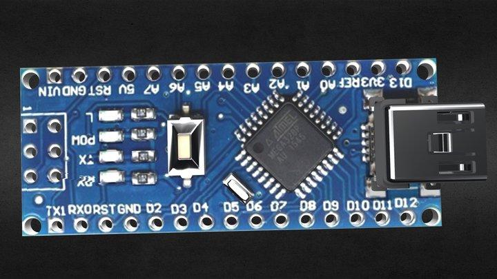 Arduino Nano V3 Mini USB download free 3D Model