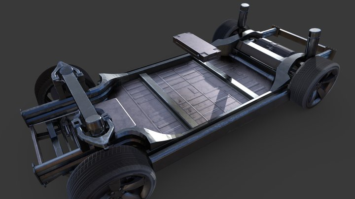Tesla ModelX chassis 3D Model