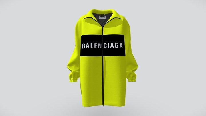 Balenciaga Jacket Oversize with Logo 3D Model