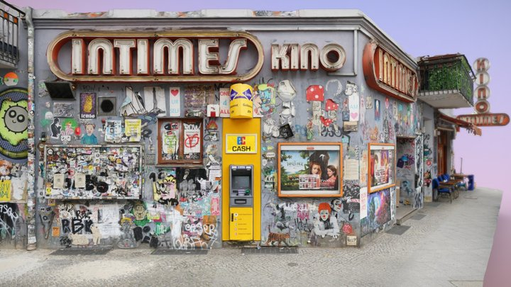Intimes Kino / Wall of Fame in Friedrichshain 3D Model