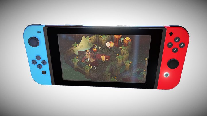 Verdungeon test in Nintendo Switch 3D Model