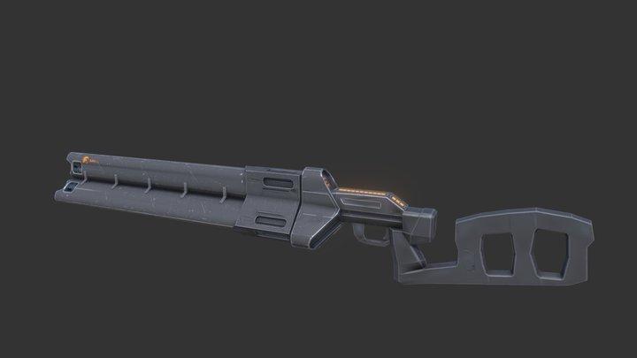 Enforcer Machinegun [WIP] 3D Model