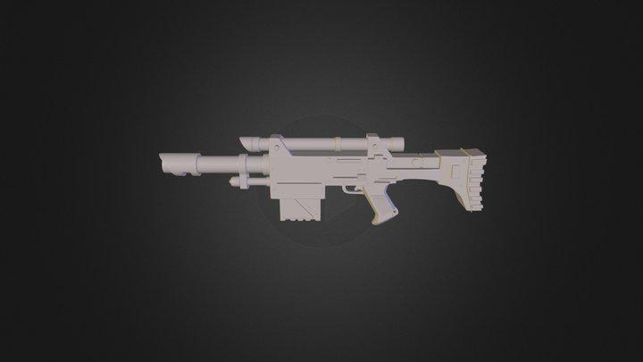 Lasrifle from Warhammer 40K 3D Model