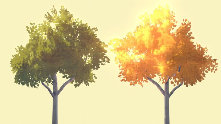 Trees and foliage 3D Model