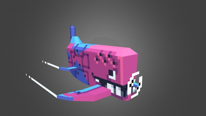 Sky Whale 3D Model