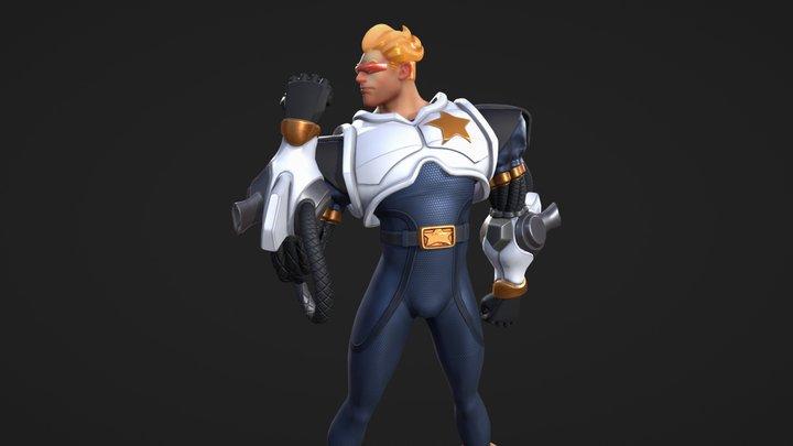 Captain Commando 3D Model
