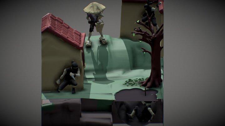 Suddenly, Ninjas ! 3D Model
