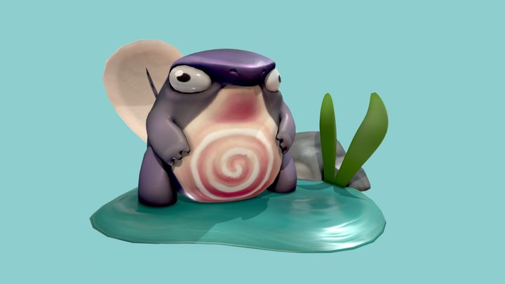 Fat Poliwag (with arms) 3D Model