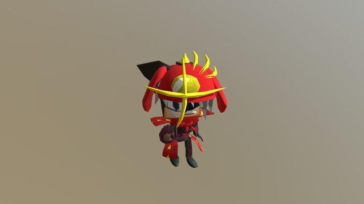 Shogun Samurai Hantom 3D Model